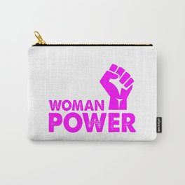 woman power feminist top Carry-All Pouch
