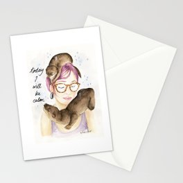 Today I Will Be Calm Stationery Cards