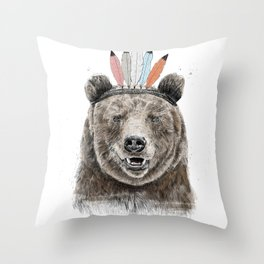 Festival bear Throw Pillow