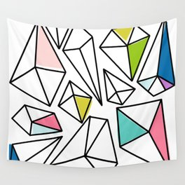 Shine Bright | Colorful Geo Gems Wall Tapestry