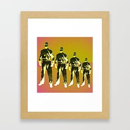 - man machine - Framed Art Print