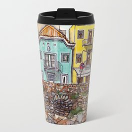 Buarcos Buildings, Portugal Travel Mug