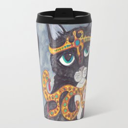 Tuxedo Cat Angel art Travel Mug
