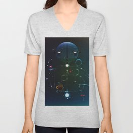 Self Portrait: Raid Boss, Coffee and Constellations Unisex V-Neck