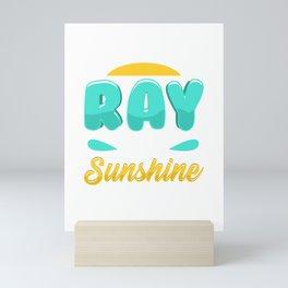 Cute & Funny I'm A Freakin' Ray of Sunshine Mini Art Print