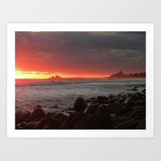 Red at night sailor's delight Art Print