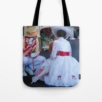 mary poppins Tote Bags featuring Mary Poppins by Christa Morgan ☽
