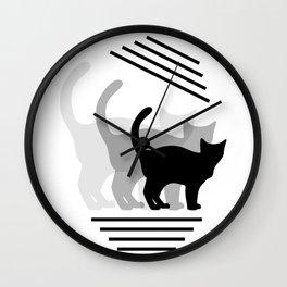 Cat story, Pet design #society6 #decor #buyart #artprint Wall Clock