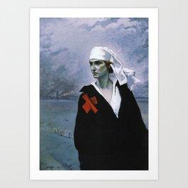 La France Croisee Romaine Brooks Art Print