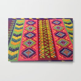 Colorful Guatemalan Alfombra Metal Print
