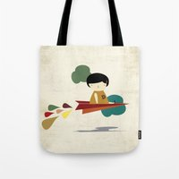 be brave Tote Bags featuring Brave by yael frankel