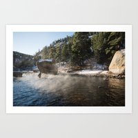 Casting Lines in the Canyon Art Print