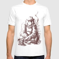Help the homeless MEDIUM White Mens Fitted Tee