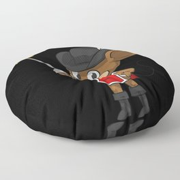 Mouse Musketeer With Sword Floor Pillow