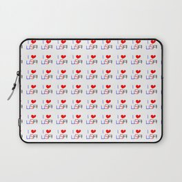 I love USA - america,us,united states,american,new york,hollywoord,spangled,banner,star and strips Laptop Sleeve
