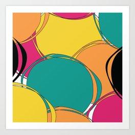 Abstract Circls Art Print