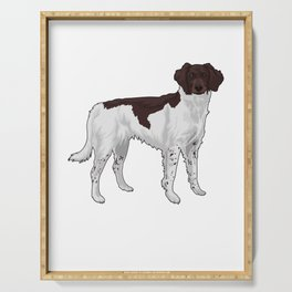Small Munsterländer Hund Hunting Dog Serving Tray
