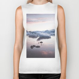 Sunset over Glacier Lagoon - Landscape and Nature Photography Biker Tank
