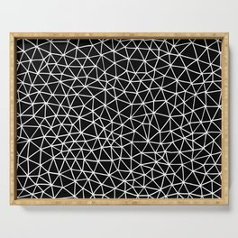 Connectivity - White on Black Serving Tray