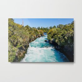 Huka Falls, New Zealand | Lake Taupo (North Island) | Colorful Travel Photography Metal Print