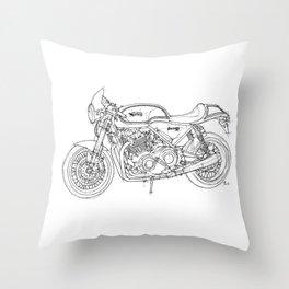 NORTON COMMANDO 961 CAFE RACER 2011, original artwork Throw Pillow