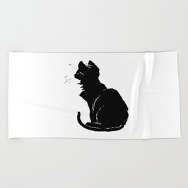 Life With Black Cats Vector Beach Towel