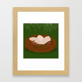 Three Little Eggies Framed Art Print