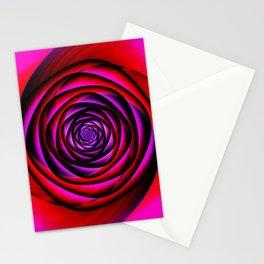 Fractal rose Stationery Cards