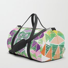 Colorful Tropical Abstract Zenspire Geometrical Pattern Duffle Bag