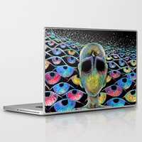 third eye Laptop & iPad Skins featuring third eye by Blu*
