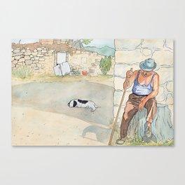 Zio - DaVinci Wine Storyteller Canvas Print