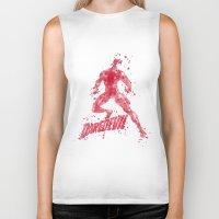 daredevil Biker Tanks featuring Daredevil Superhero by Carma Zoe