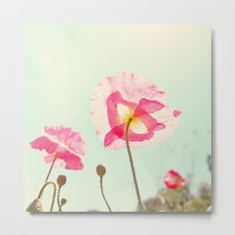 Sunshine & Poppy Metal Print