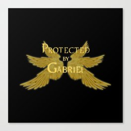 Protected by Gabriel Canvas Print