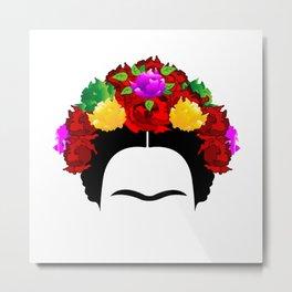 Frida minimalist flowers Metal Print
