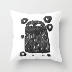 night bird Throw Pillow