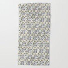 matryoshka with heart Beach Towel