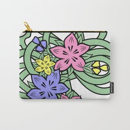Abstract flowers corner Carry-All Pouch