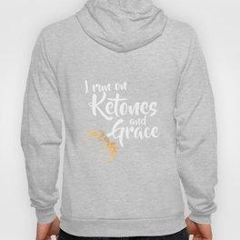 I Run on Ketones and Grace Tshirt Fun Cute Christian Keto Tee Hoody