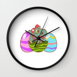 Cool T-rex Shirt For Mommies Happy EastRawr T-shirt Design Palm Dinosaurs Mamasaurus Eggs Easter Wall Clock