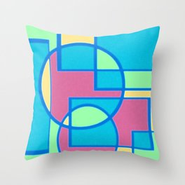 Roads and Roundabouts Throw Pillow