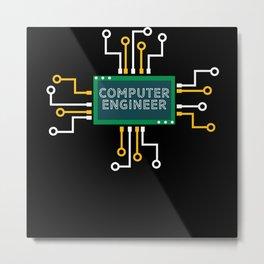 Computer Engineer Metal Print
