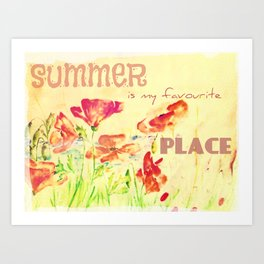 My Favourite Place Art Print