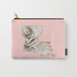 Gold marble Louisiana map Carry-All Pouch