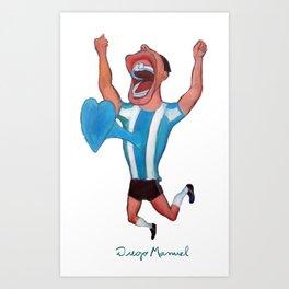 Gol de Argentina Art Print