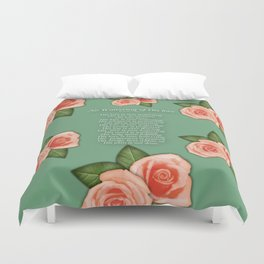 No Waivering of His love By Feon Davis Duvet Cover