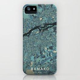 Bamako, Mali - Cream Blue iPhone Case