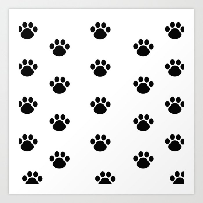 Puppy Dog Paw Prints Art Print By Decampstudios Society6