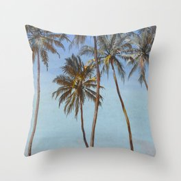 """Walter Crane """"Under the palms at the Galle Face, Ceylon"""" Throw Pillow"""