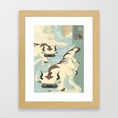 Original Bending Masters Series: Sky Bison Framed Art Print